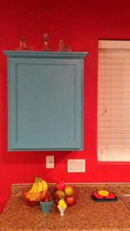 kitchen cabinet - teal