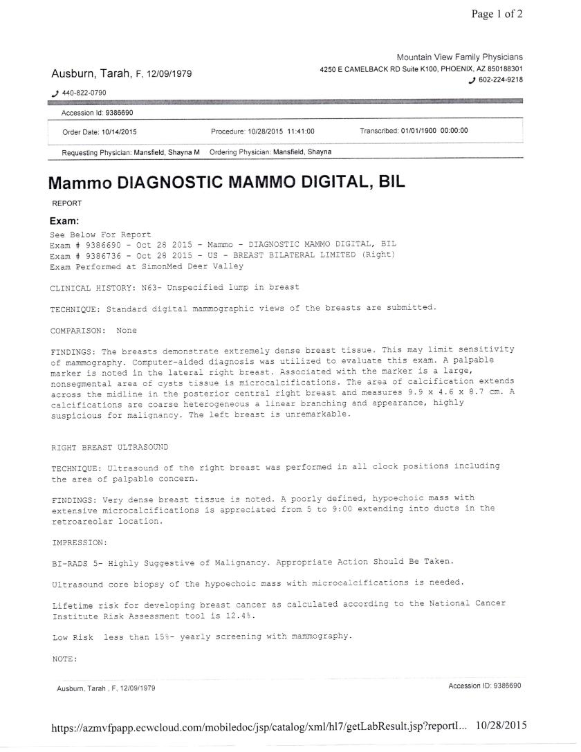 Mammo report, page 1 - 15-10-28