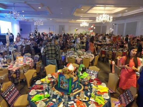 tea event crowd